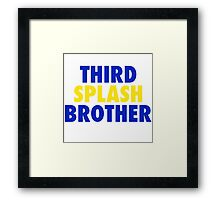 THIRD SPLASH BROTHER Framed Print