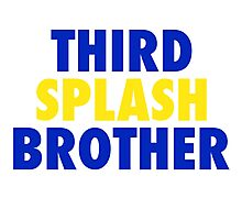 THIRD SPLASH BROTHER Photographic Print