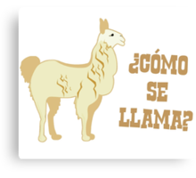 Como Se Llama?  What is your name? Canvas Print