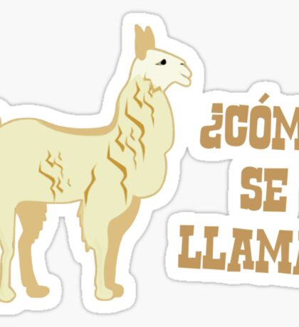 Como Se Llama?  What is your name? Sticker