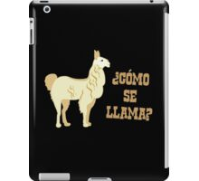 Como Se Llama?  What is your name? iPad Case/Skin