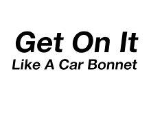 On it like a car bonnet. by Ninjastylie