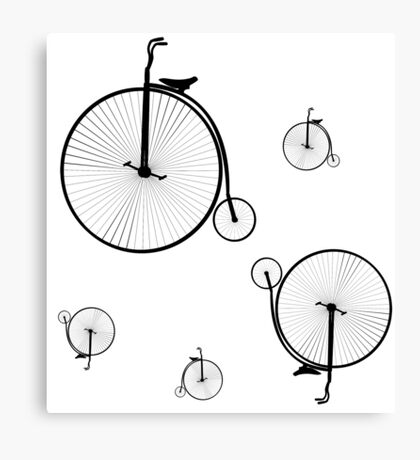 Old Bicycles Canvas Print