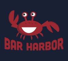 Bar Harbor T-shirt - Funny Red Crab Kids Tee