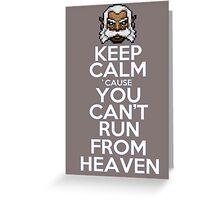 Keep calm ZEUS! Greeting Card