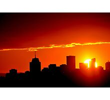 City skyline sunset Photographic Print