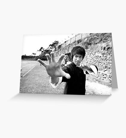 Bruce Lee Pose III Greeting Card