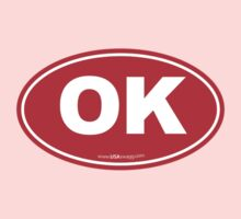 Oklahoma OK Euro Oval RED Kids Clothes