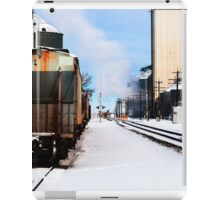 Quiet winter morning in a rural town. iPad Case/Skin