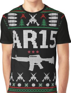 Ar15 Ugly Christmas Sweater, Funny Men Women AR 15 Gun Lovers Gift Graphic T-Shirt