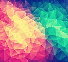 Abstract Polygon Multi Color Cubizm Painting by badbugs