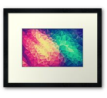 Abstract Polygon Multi Color Cubism Triangle Design Framed Print