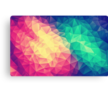 Abstract Polygon Multi Color Cubism Triangle Design Canvas Print