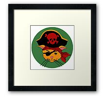 The Dread Pirate Kitty Framed Print