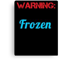 warning words Canvas Print