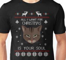 Funny Cat Ugly Christmas Sweater T-Shirt, Men Women Love Cat T-Shirt Unisex T-Shirt