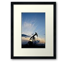 Pump jack. Framed Print