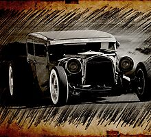 Rat Rod Sedan Sketch 3 by DaveKoontz