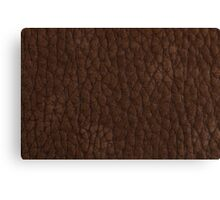 Natural brown leather Canvas Print