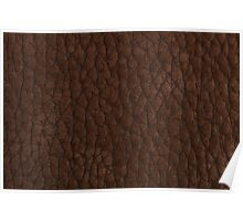 Natural brown leather Poster