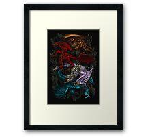 Elemental Dragons Framed Print