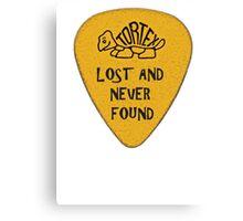 Lost Guitar Pick Mustard Canvas Print