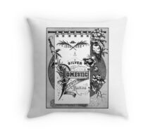Domestic Sewing Machine Throw Pillow