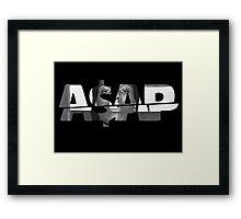 Asap Framed Print