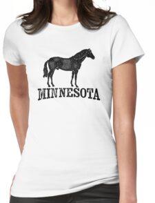 Minnesota T-shirt - Horse Womens Fitted T-Shirt