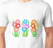 FLOWERY THREESOME Unisex T-Shirt