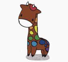Rainbow Giraffe Kids Tee