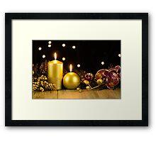 Christmas candles Framed Print