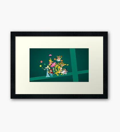 Mushroom Kingdom Smashers Framed Print