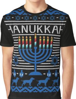 Hanukkah Ugly Christmas Sweater T-Shirt, Mens Womens Gift Graphic T-Shirt