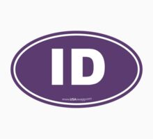 Idaho ID Euro Oval PURPLE by USAswagg
