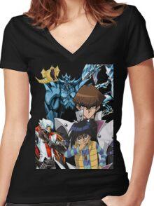 Yu-Gi-Oh - Kaiba Women's Fitted V-Neck T-Shirt