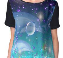Dolphin Stars Design Chiffon Top