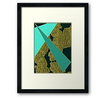 Hand drawn vintage texture Framed Print