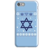 Hanukkah Ugly T-Shirt, Funny Ugly Christmas Sweater Gift T-Shirt iPhone Case/Skin