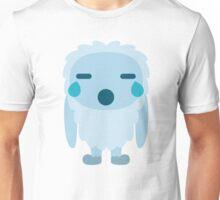 Yeti Emoji Teary Eyes and Sad Look Unisex T-Shirt