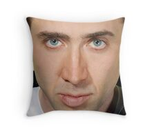 Nicolas Cage Face Throw Pillow IV Throw Pillow