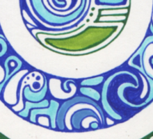 water and earth Sticker
