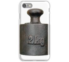 Balance weight - two kilograms iPhone Case/Skin