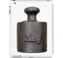 Balance weight - two kilograms iPad Case/Skin