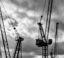 Tower Cranes on City of London Skyline Sticker