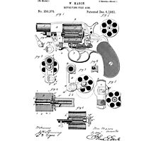 Revolving Fire Arm Patent 1881 Photographic Print
