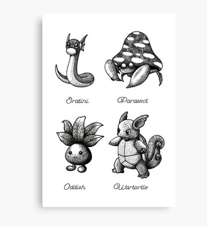 Planche Pokémon Canvas Print