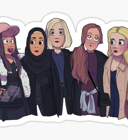 The girl squad from SKAM Sticker