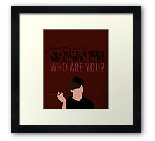 A Very Rich Widow With A Terrible Secret Framed Print