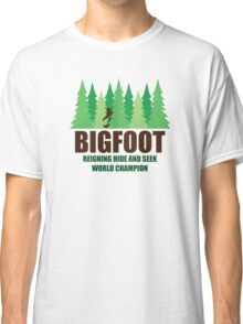 Bigfoot Sasquatch Hide and Seek World Champion Classic T-Shirt
